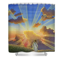 Let The Day Begin Shower Curtain