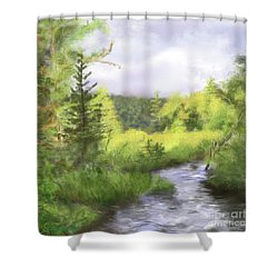 Let The Light Shine In. Shower Curtain