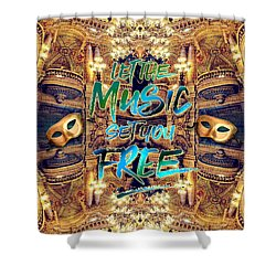 Let The Music Set You Free Opera Garnier Paris France Shower Curtain
