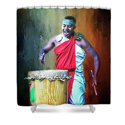 Shower Curtain featuring the photograph Let There Be Drums by Wallaroo Images