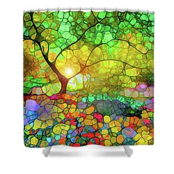 Let This Light Bring You Home Shower Curtain