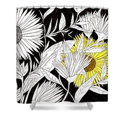 Let Your Light Shine Shower Curtain by Lou Belcher