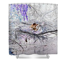 Let Your Mind Fly Away Shower Curtain