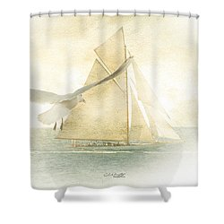 Shower Curtain featuring the painting Let Your Spirit Soar by Chris Armytage