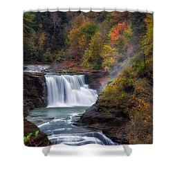 Letchworth Lower Falls 3 Shower Curtain