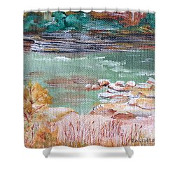 Letchworth State Park Shower Curtain by Ellen Canfield