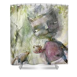 Let's Be Friends Shower Curtain by Eleatta Diver