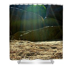 Let's Camp Shower Curtain