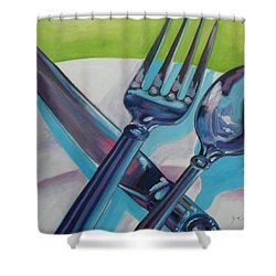 Let's Eat Shower Curtain