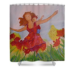 Let's Fly  Shower Curtain by Gioia Albano