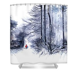 Let's Go For A Walk 2 Shower Curtain
