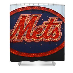 Lets Go Mets Shower Curtain by Richard Bryce and Family