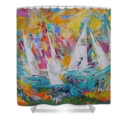 Lets Go Sailing Shower Curtain
