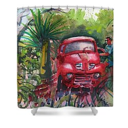 Let's Go Surfin', Red Shower Curtain