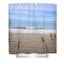 Shower Curtain featuring the photograph Let's Go To The Beach by Mary Timman