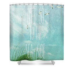 Shower Curtain featuring the photograph Let's Go To The Sea-side by Jan Amiss Photography