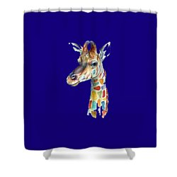 Let's Neck T-shirt Shower Curtain by Herb Strobino