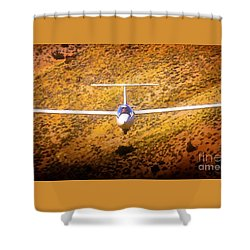 Let's Play Chicken Soaring Shower Curtain