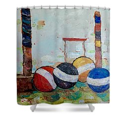 Let's Play Croquet Shower Curtain
