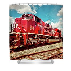 Let's Ride The Katy Shower Curtain by Linda Unger