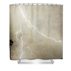 Let's Split Shower Curtain by James BO  Insogna