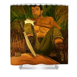 Letter Home Shower Curtain