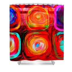 Letter To Kandinsky  Shower Curtain by Danica Radman