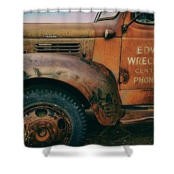 Lettering Shower Curtain