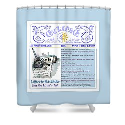 Real Fake News Letters To The Editor Shower Curtain