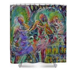 Letting Go Shower Curtain by Gail Butters Cohen