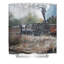Letting Off Steam Shower Curtain