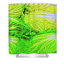 Lettuce 5 Shower Curtain by Bruce Iorio