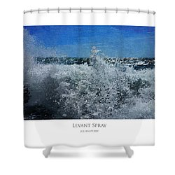 Shower Curtain featuring the digital art Levant Spray by Julian Perry