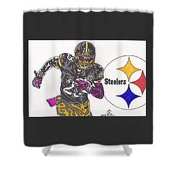 Le'veon Bell 2 Shower Curtain by Jeremiah Colley