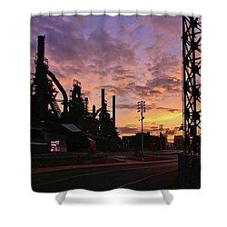 Shower Curtain featuring the photograph Levitt Pavilion by DJ Florek
