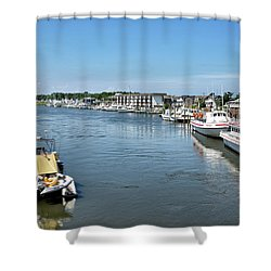 Lewes Delaware Shower Curtain by Brendan Reals