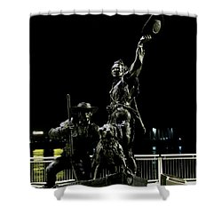 Lewis And Clark Arrive At Laclede's Landing Shower Curtain