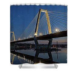 Shower Curtain featuring the photograph Lewis And Clark Bridge - D009999 by Daniel Dempster