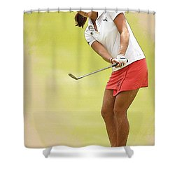 Lexi Thompson Chips To The First Green  Shower Curtain