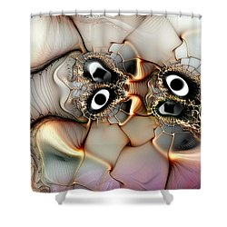Lexicon Of The Visionary Shower Curtain by Casey Kotas