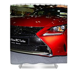 Lexus Rc Turbo Shower Curtain