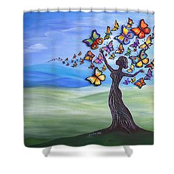 Liberation Of Inner Beauty Shower Curtain