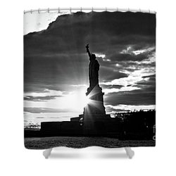 Shower Curtain featuring the photograph Liberty by Ana V Ramirez