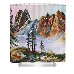 Liberty Bell Mountain Shower Curtain
