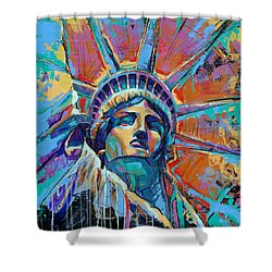 Liberty In Color Shower Curtain by Damon Gray