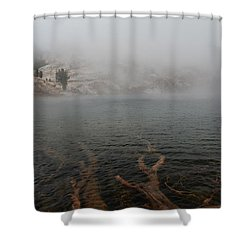 Liberty Lake In Fog Shower Curtain
