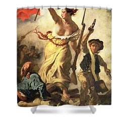 Liberty Leading The People Shower Curtain by Ferdinand Victor Eugene Delacroix