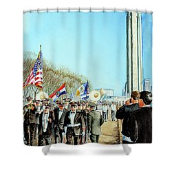 Liberty Memorial Kc Veterans Day 2001 Shower Curtain by Carolyn Coffey Wallace
