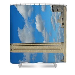 Liberty Memorial On A Perfect Day Shower Curtain