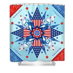 Liberty Quilt Shower Curtain by Valerie Drake Lesiak